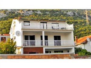 Ferienwohnungen Tatjana Kuciste, Größe 30,00 m2, Luftlinie bis zum Meer 100 m, Entfernung vom Ortszentrum (Luftlinie) 500 m