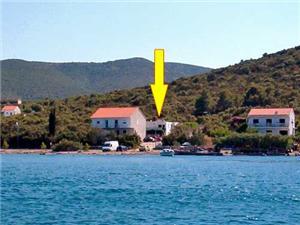 Appartementen Andrijana Drace, Kwadratuur 40,00 m2, Lucht afstand tot de zee 70 m, Lucht afstand naar het centrum 600 m