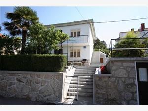 Appartementen Hodžić Silo - eiland Krk, Kwadratuur 45,00 m2, Lucht afstand tot de zee 50 m, Lucht afstand naar het centrum 200 m