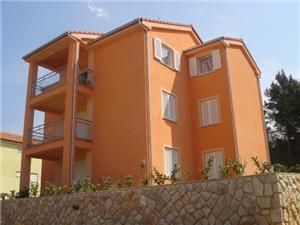 Apartmani Goršić Klimno - otok Krk, Kvadratura 60,00 m2, Zračna udaljenost od mora 50 m