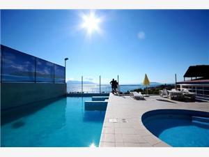 Appartementen Pecić Gradac, Kwadratuur 32,00 m2, Accommodatie met zwembad, Lucht afstand tot de zee 200 m