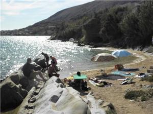 Ferienwohnungen Marija Pag - Insel Pag, Größe 64,00 m2, Luftlinie bis zum Meer 10 m, Entfernung vom Ortszentrum (Luftlinie) 600 m