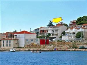 Apartmanok Ana Tisno - Murter sziget, Méret 34,50 m2, Légvonalbeli távolság 200 m, Központtól való távolság 400 m