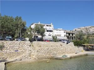 Ferienwohnungen Ivan Metajna - Insel Pag, Größe 55,00 m2, Luftlinie bis zum Meer 15 m, Entfernung vom Ortszentrum (Luftlinie) 400 m