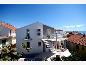 Appartementen Vesela Podaca, Kwadratuur 21,00 m2, Lucht afstand tot de zee 100 m, Lucht afstand naar het centrum 250 m