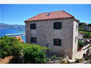 Appartementen Loredana Lumbarda - eiland Korcula, Stenen huize, Kwadratuur 35,00 m2, Lucht afstand tot de zee 70 m