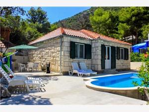 Kuća za odmor Ana Hrvatska, Kvadratura 80,00 m2, Smještaj s bazenom, Zračna udaljenost od mora 10 m