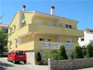 Apartmány Fugosic Željka Silo - ostrov Krk, Vzdušná vzdialenosť od mora 150 m, Vzdušná vzdialenosť od centra miesta 500 m