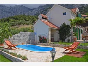 Vila Ela Makarska rivijera, Kvadratura 45,00 m2, Smještaj s bazenom