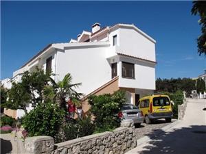 Apartmaj Jelka Baska - otok Krk, Kvadratura 35,00 m2, Oddaljenost od morja 50 m