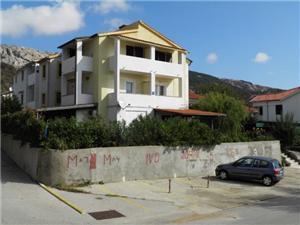 Apartmanok Miljenka Baska - Krk sziget, Méret 20,00 m2, Központtól való távolság 500 m