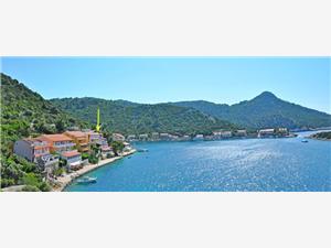 Apartmány a Izby Barbara Južnodalmatínske ostrovy, Rozloha 35,00 m2, Vzdušná vzdialenosť od mora 10 m, Vzdušná vzdialenosť od centra miesta 50 m