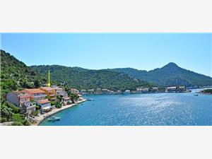Apartamenty Đulijana Zaklopatica - wyspa Lastovo, Powierzchnia 25,00 m2, Odległość do morze mierzona drogą powietrzną wynosi 10 m, Odległość od centrum miasta, przez powietrze jest mierzona 100 m