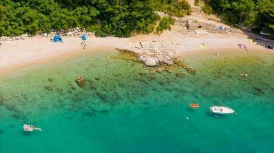 Družina plaža na Hrvaškem
