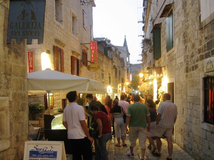 Trogir-street-Croatia