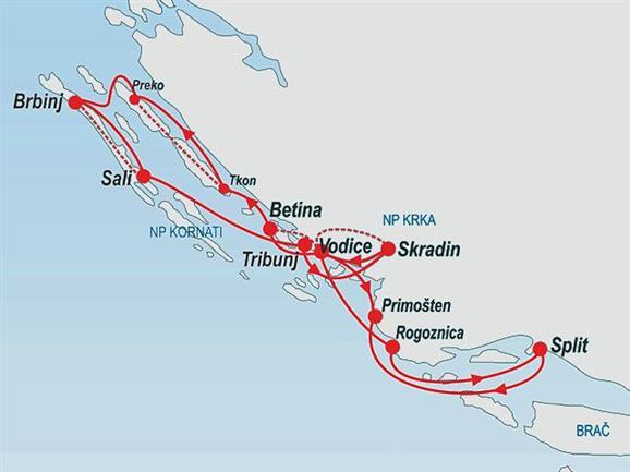 Kolarstwo i odkrywanie Północnej Dalmacji