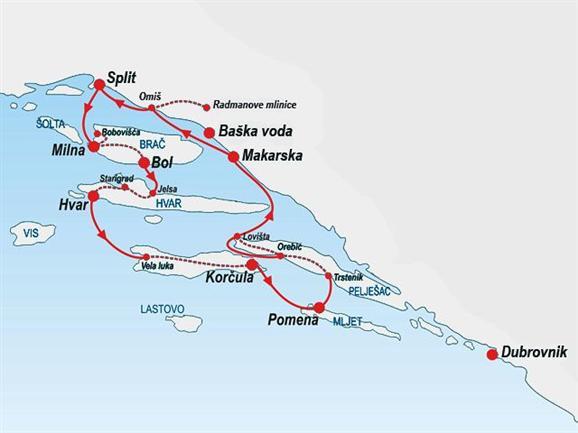 Cyklistika a objavovanie Severnej Dalmácie zo Splitu