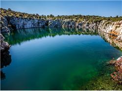 "Morsko jezero ""Zmajevo oko"" Vodice Znamenitosti"