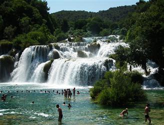 Národny park Vodopády Krke
