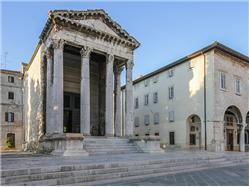 Temple of Augustus Pjescana Uvala Sights
