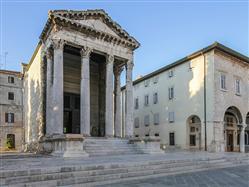 Augustus Tempel Muntic Sehenswürdigkeiten