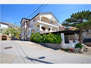 Appartementen Ružica Karlobag, Kwadratuur 17,00 m2, Lucht afstand tot de zee 200 m, Lucht afstand naar het centrum 200 m