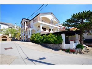 Apartmani Kata Karlobag, Kvadratura 30,00 m2, Zračna udaljenost od mora 200 m, Zračna udaljenost od centra mjesta 200 m