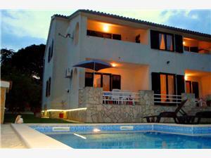 Apartmani Dorijano Valbandon, Kvadratura 85,00 m2, Smještaj s bazenom