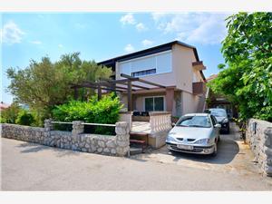 Appartements Ivan Krk - île de Krk, Superficie 18,00 m2, Distance (vol d'oiseau) jusque la mer 250 m, Distance (vol d'oiseau) jusqu'au centre ville 400 m