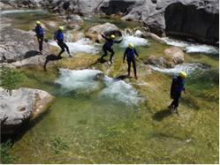 Canyoning  river  Cetina - basic canyoning Mimice