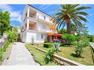 Apartmány Marija Banjol - ostrov Rab, Rozloha 20,00 m2, Vzdušná vzdialenosť od mora 100 m, Vzdušná vzdialenosť od centra miesta 700 m
