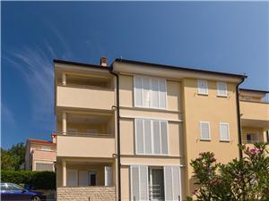 Appartementen Josip Čižići - eiland Krk, Kwadratuur 65,00 m2, Lucht afstand tot de zee 50 m, Lucht afstand naar het centrum 100 m