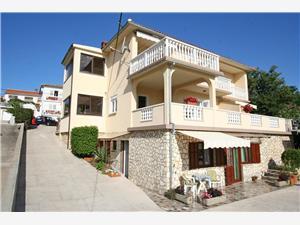 Appartements Dvorničić Silo - île de Krk, Superficie 55,00 m2, Distance (vol d'oiseau) jusqu'au centre ville 450 m