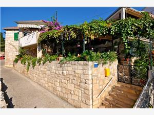Apartmanok Katija Splitska - Brac sziget, Méret 80,00 m2, Légvonalbeli távolság 200 m, Központtól való távolság 30 m