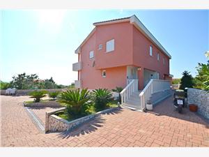 Appartementen Miroslav Novalja - eiland Pag, Kwadratuur 55,00 m2, Lucht afstand naar het centrum 250 m