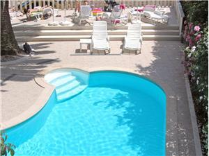 Appartementen Jakša Schiereiland Peljesac, Kwadratuur 35,00 m2, Accommodatie met zwembad, Lucht afstand tot de zee 50 m