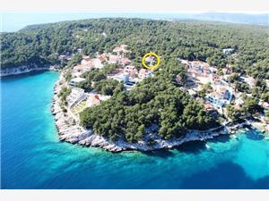 Апартамент Deni Milna - ostrov Brac, квадратура 60,00 m2, Воздуха удалённость от моря 150 m