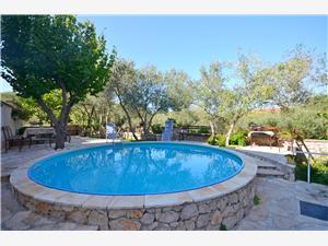 Appartement Gordan Noord-Dalmatische eilanden, Kwadratuur 25,00 m2, Accommodatie met zwembad, Lucht afstand naar het centrum 500 m