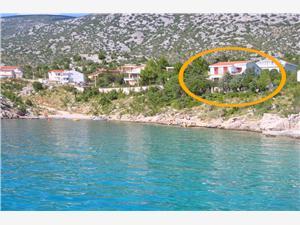 Apartamenty Mladen Chorwacja, Powierzchnia 35,00 m2, Odległość do morze mierzona drogą powietrzną wynosi 30 m