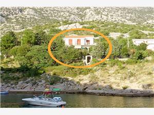 Апартаменты Mladen Karlobag, квадратура 35,00 m2, Воздуха удалённость от моря 15 m