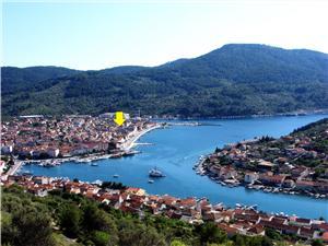 Apartmanok és Szobák Dragana Vela Luka - Korcula sziget, Méret 20,00 m2, Központtól való távolság 300 m