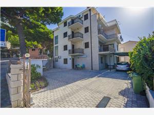 Apartmanok Marinko Makarska riviéra, Méret 33,00 m2, Központtól való távolság 500 m