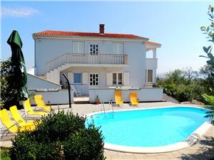 Apartmanok Finka Krk - Krk sziget, Méret 100,00 m2, Szállás medencével