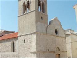 Lëglise de St Jurja (St George) Pag - île de Pag L'église