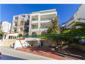 Appartementen Ana Makarska, Kwadratuur 50,00 m2, Lucht afstand tot de zee 200 m