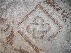 Mozaiki z wczesnego okresu chrześcijaństwa z VI wieku Supetar - wyspa Brac Zabytki