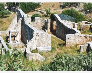 ostanke nekdanjega rimskega naselja