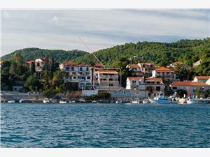 Ferienwohnungen Vesna Brna - Insel Korcula, Größe 45,00 m2, Luftlinie bis zum Meer 20 m, Entfernung vom Ortszentrum (Luftlinie) 100 m