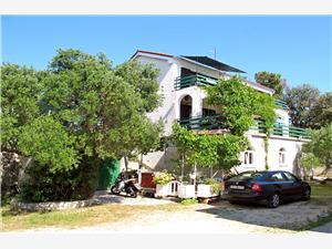 Apartmani Ines Banjol - otok Rab, Kvadratura 68,00 m2, Zračna udaljenost od mora 150 m