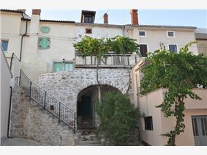 Maison Parona Vrbnik - île de Krk, Superficie 56,00 m2, Distance (vol d'oiseau) jusqu'au centre ville 20 m